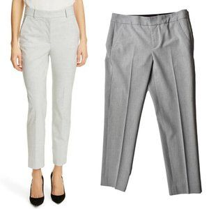 REBECCA TAYLOR Grey Suiting Tapered Ankle Pant